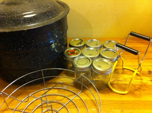 A picture of canning supplies