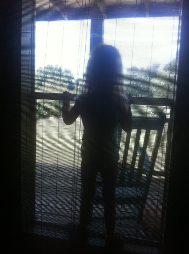 Willa waiting at the window